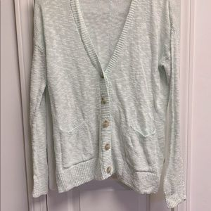 Oversized knit button up cardigan
